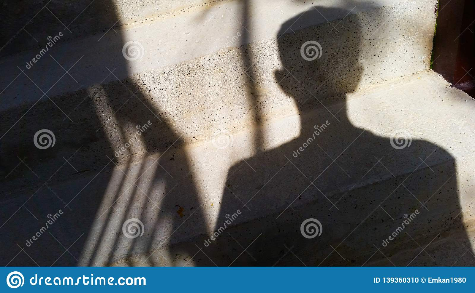A man with a shadow