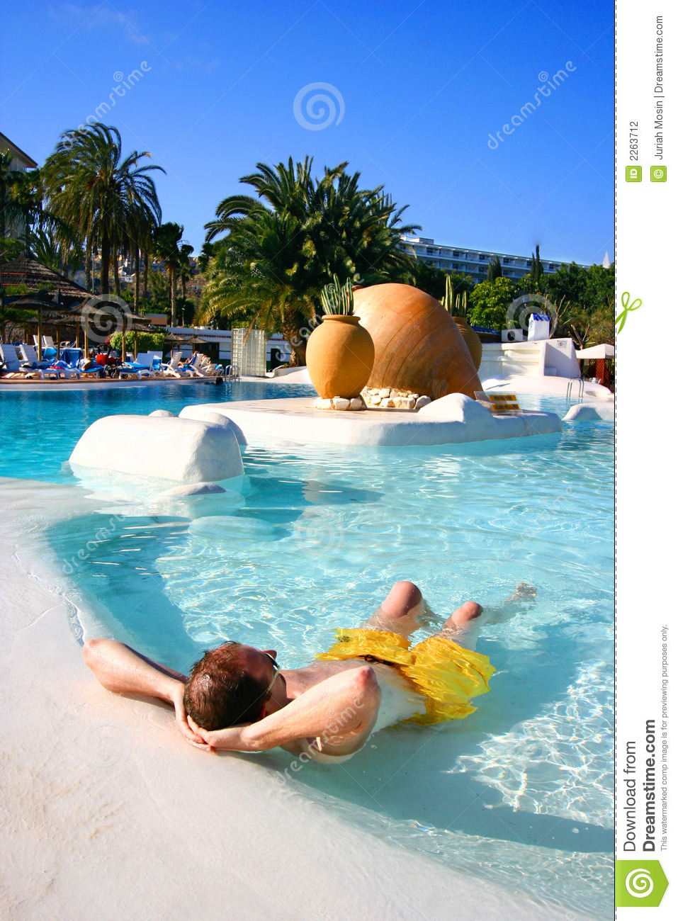 Man In Shallow Pool Stock Photography Image 2263712