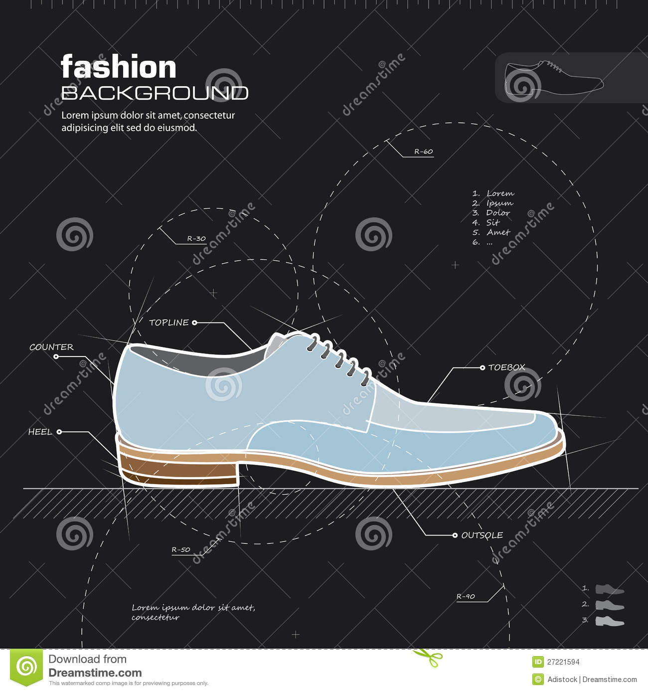 Man Shoes Design  Vector  Stock Images