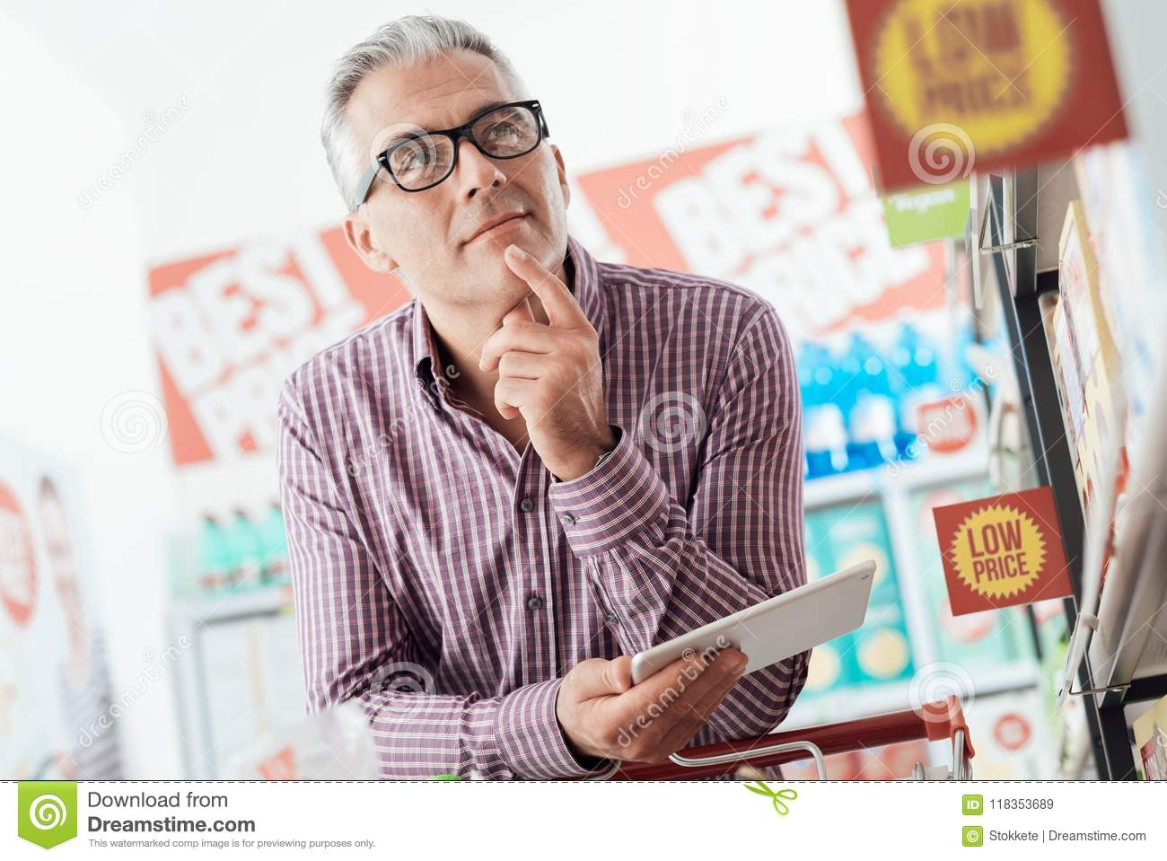 Man shopping at the store