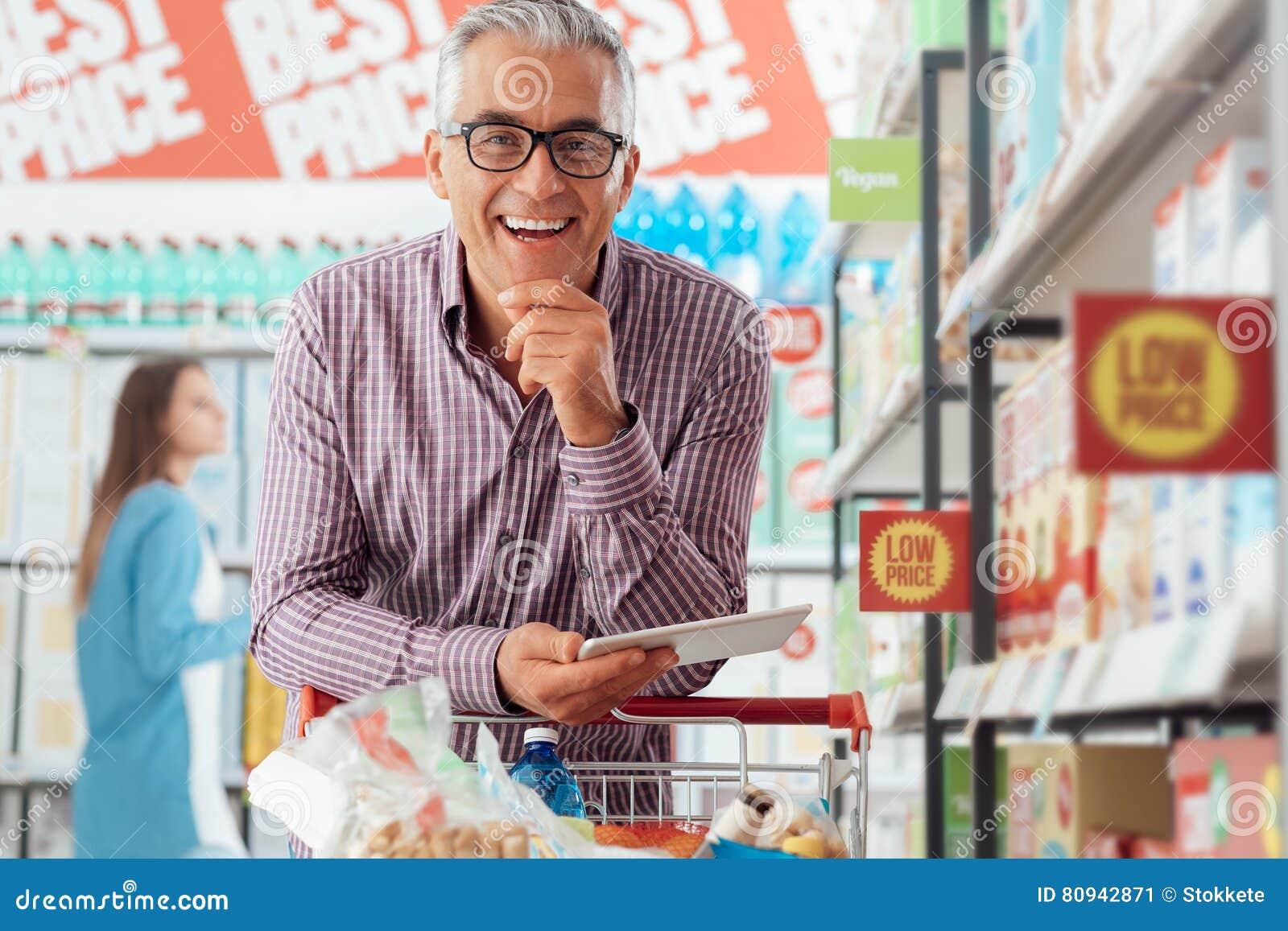 Man shopping at the store