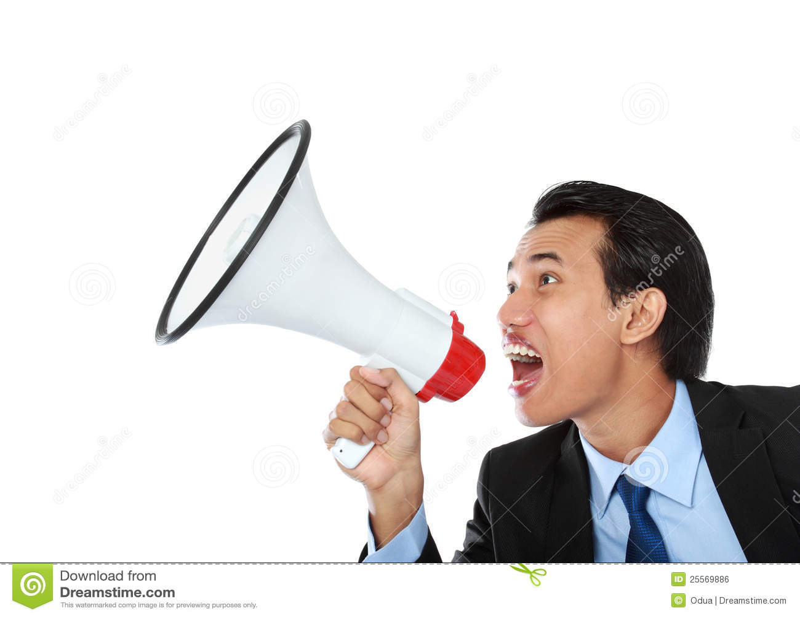 Shouting Man Using Megaphone Royalty-Free Stock ...