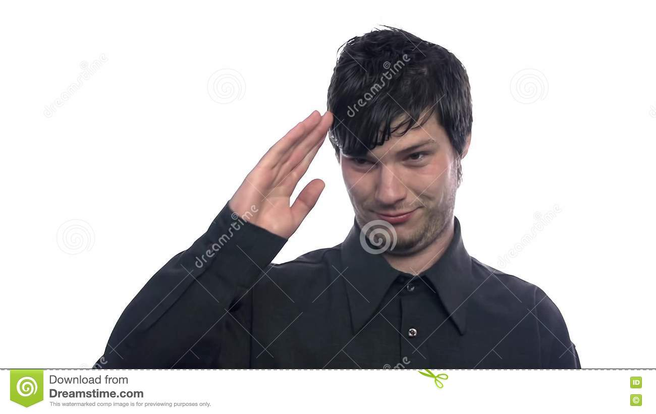 Man showing goodbye stock video image of human background 78420855 m4hsunfo