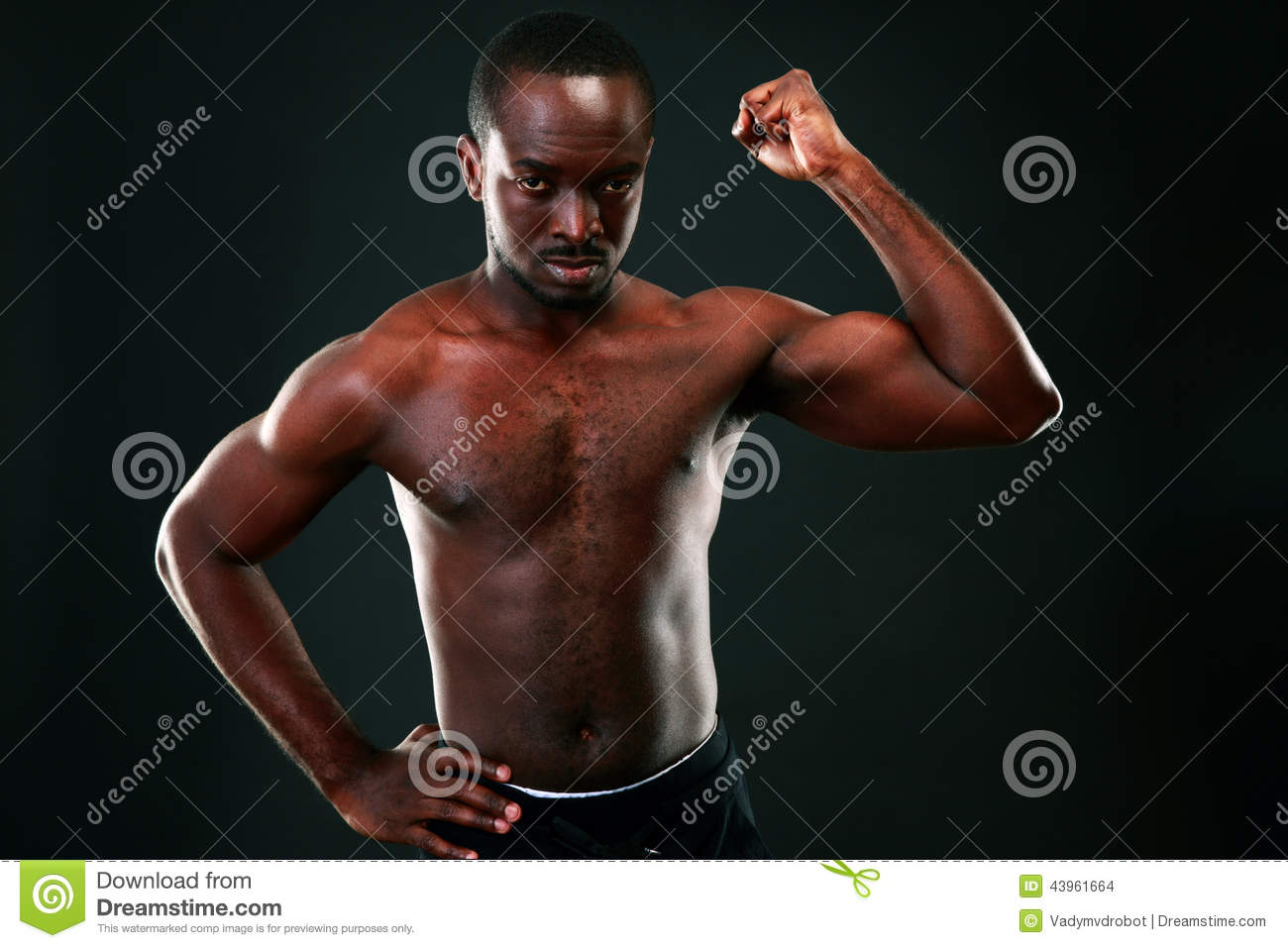 African man showing off his huge tool to the ladies 2