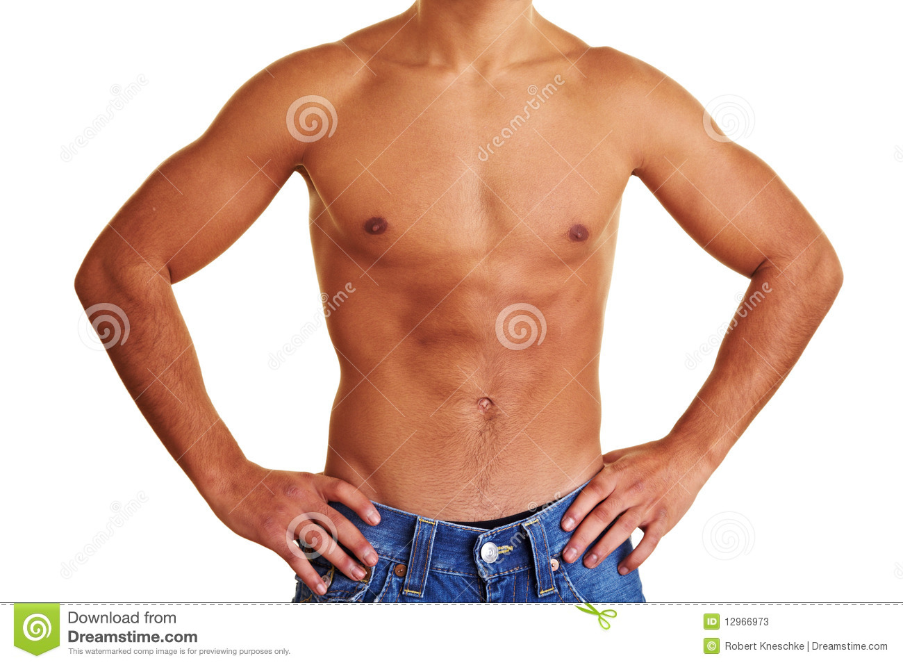 Man Showing His Upper Body Stock Image Image Of Musculature 12966973