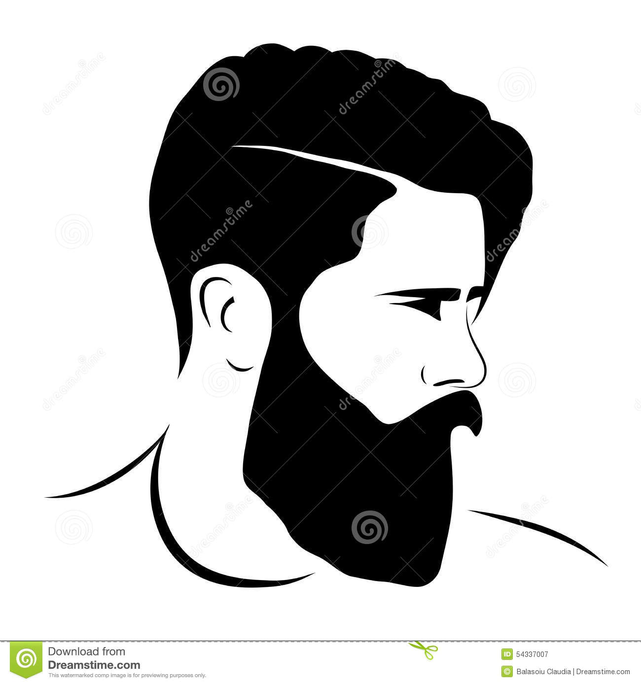 Man Silhouette Hipster Style Stock Vector Image 54337007