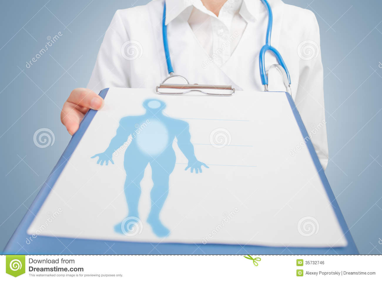 Man silhouette on medical billboard