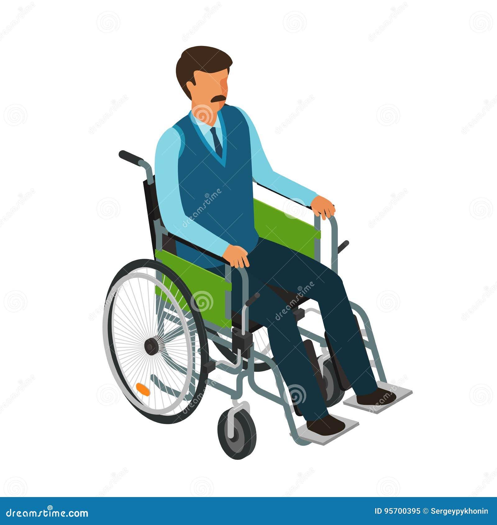 Vector invalid chair icon cartoon vector cartoondealer for Handicapped wheelchair