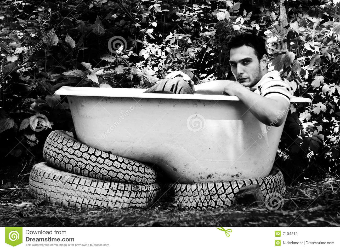 Black And White Bathtub Photography