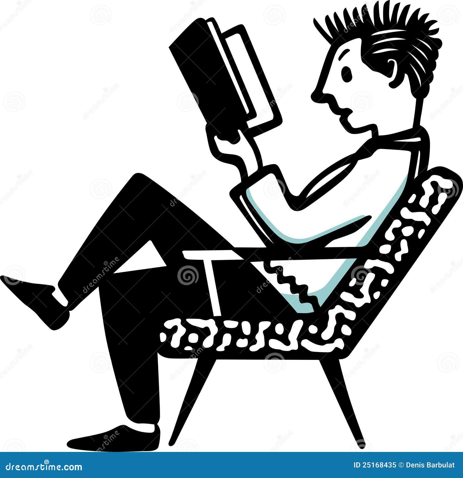 Man sitting in chair drawing - Book Chair Man Sitting