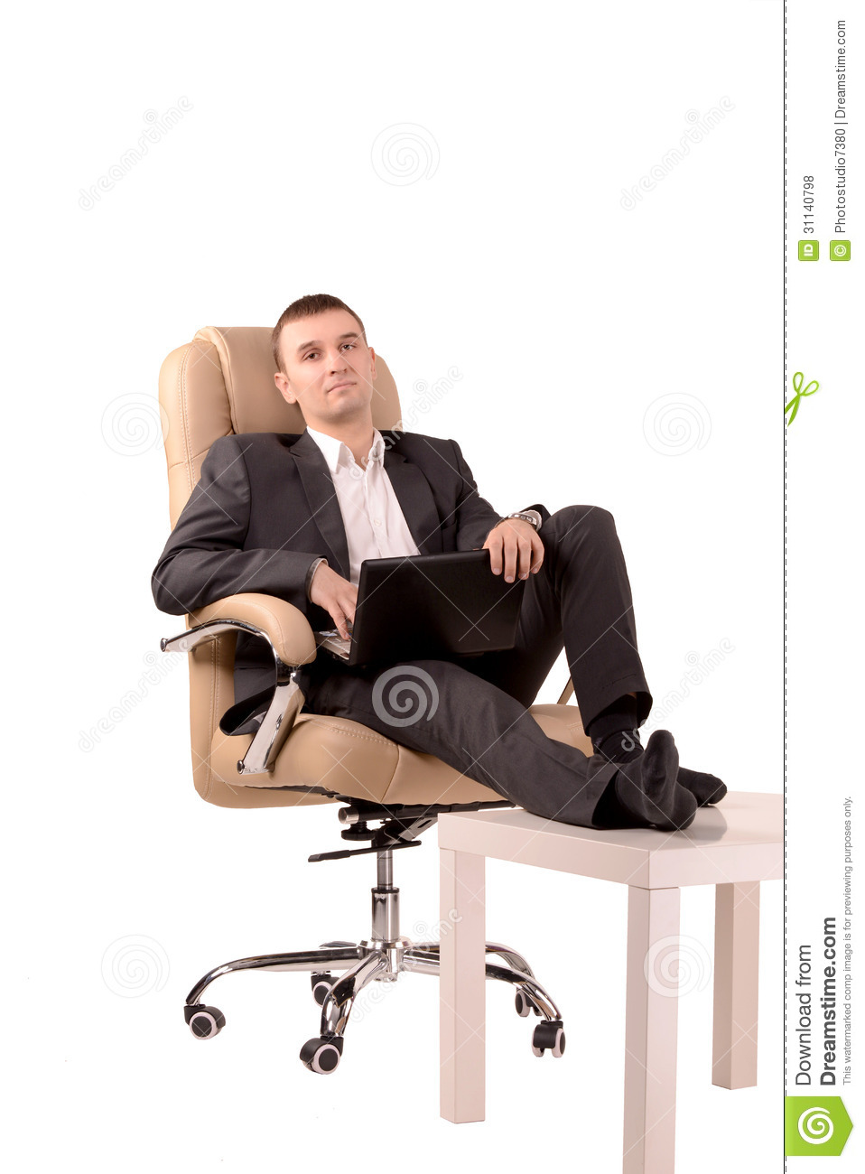Man Sitting In A Chair Royalty Free Stock Photos Image