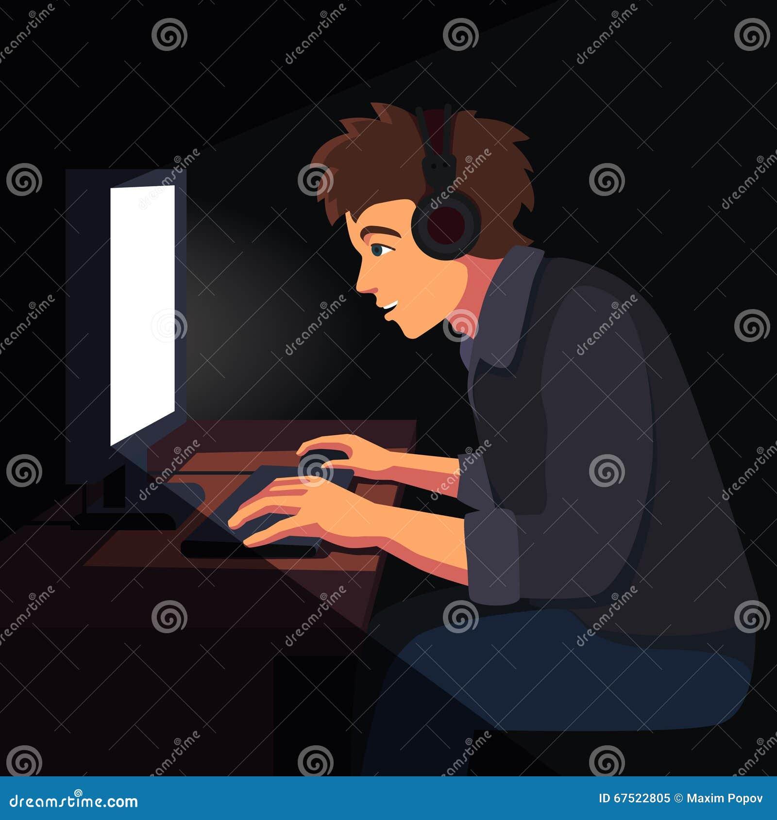 Gamer Room Illustration