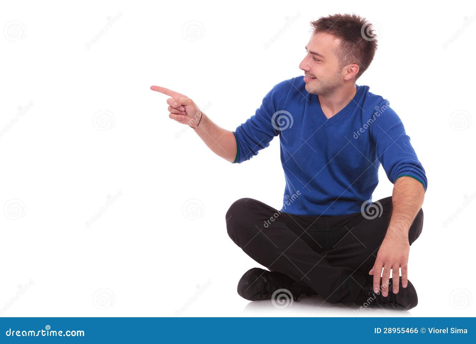 Man sitting on floor