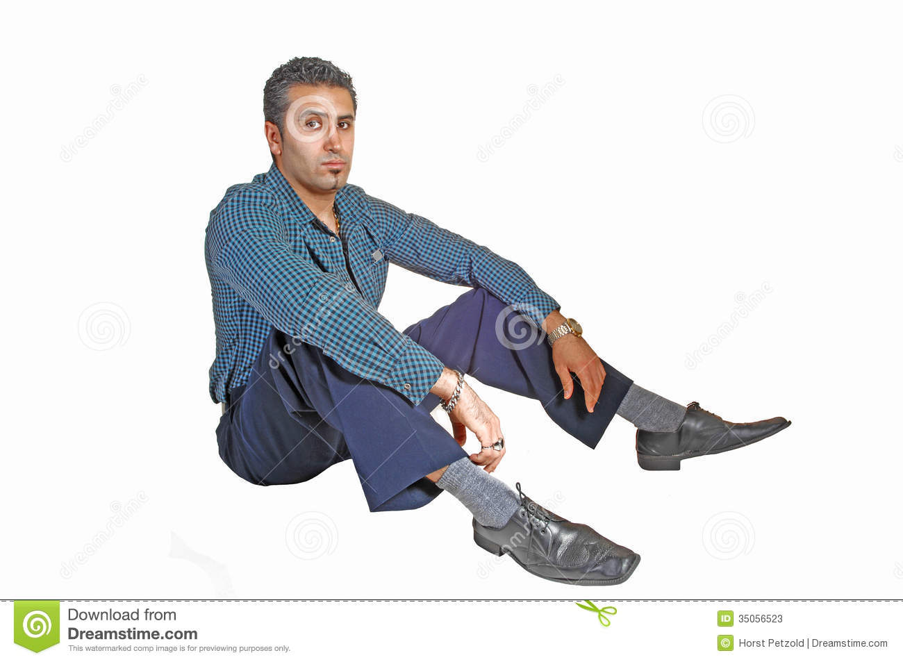 Man sitting on floor stock photos image 35056523 for On the floor