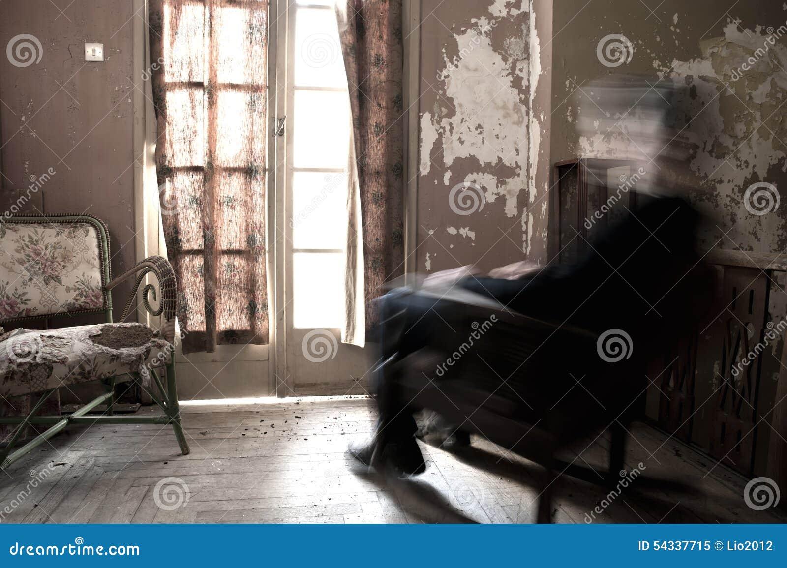 Man Sitting On Rocking Chair Stock Photo - Image: 54337715