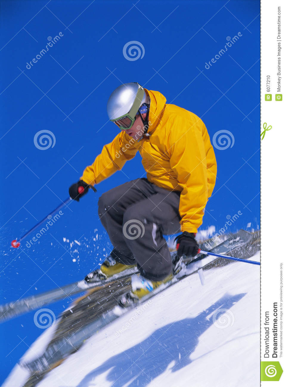 Man skiing young