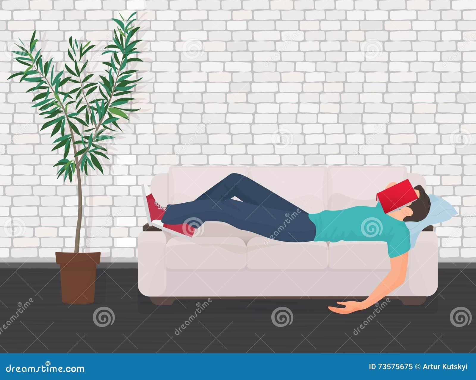 Man Fall Asleep Royalty Free Cartoon Cartoondealer Com