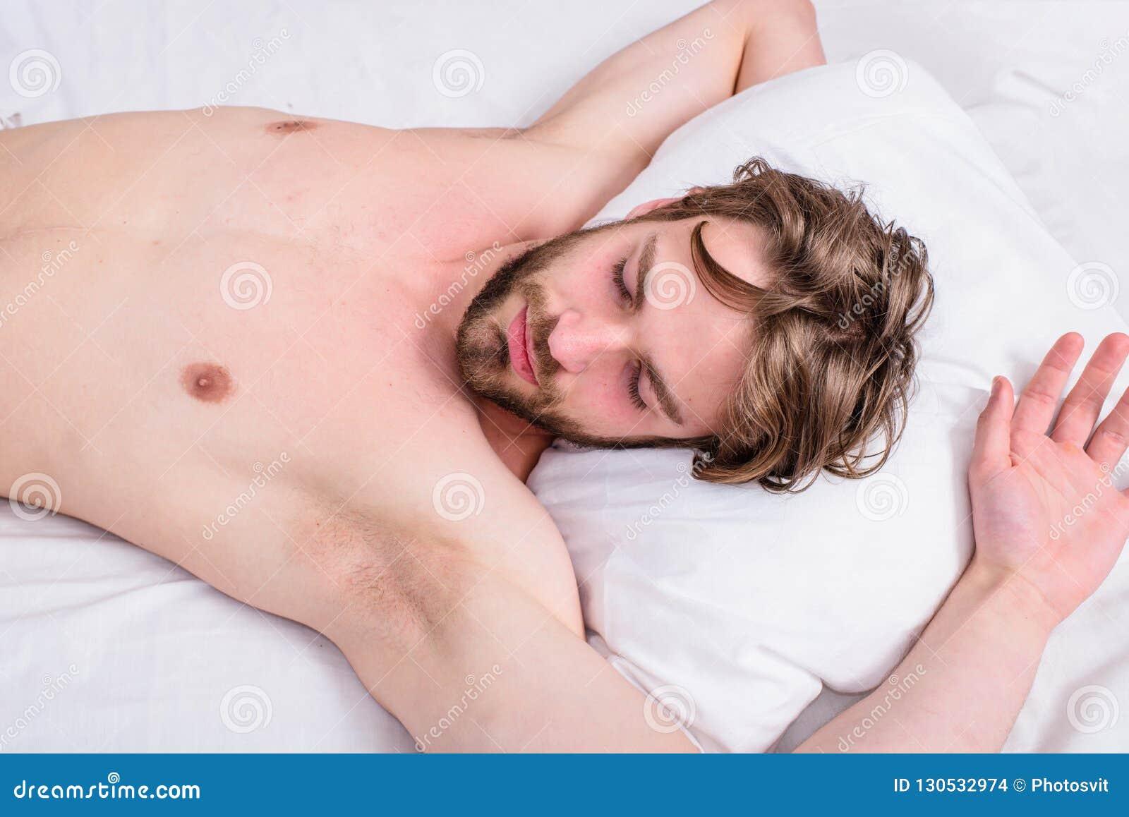 Man sleepy drowsy bearded face having rest. Pleasant awakening concept. Guy sleepy morning nap. Man unshaven handsome