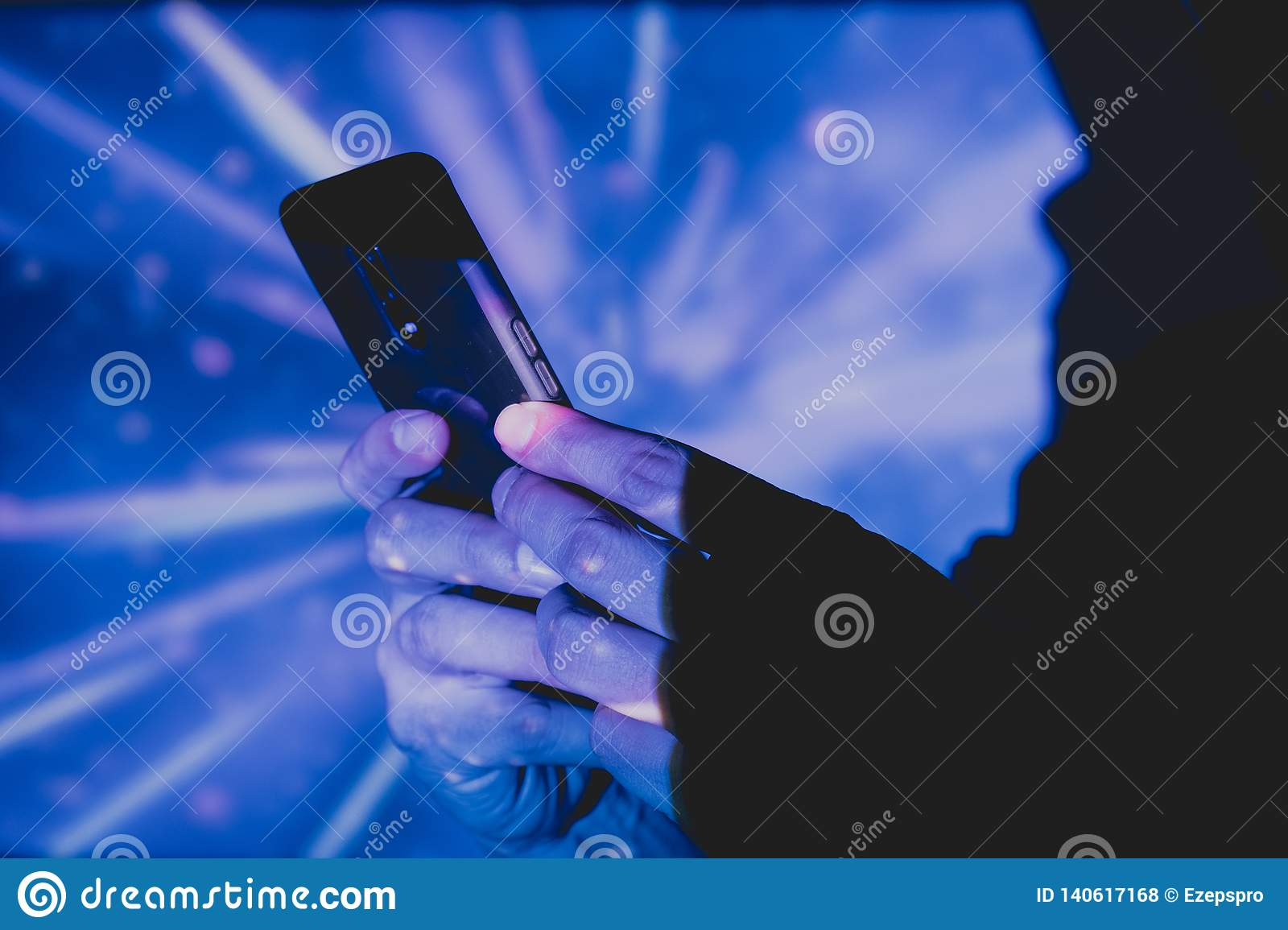 Man with smart phone in hands