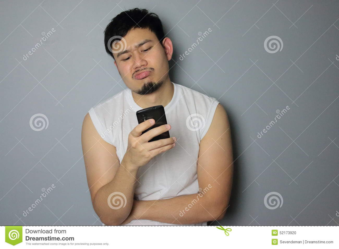 A man and smartphone.