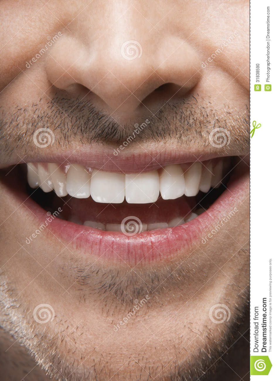 Man Smiling With Perfect White Teeth Stock Photo - Image ...