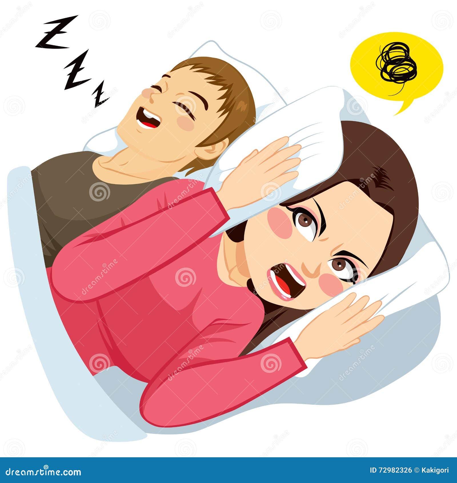 Man Snoring Noise Stock Vector - Image: 72982326