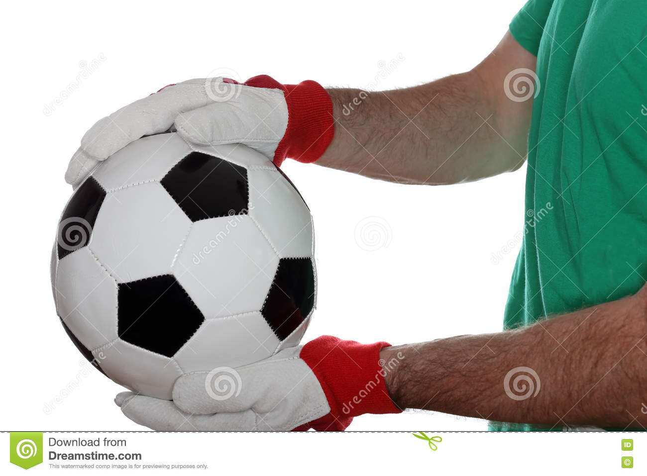 Man and soccer ball