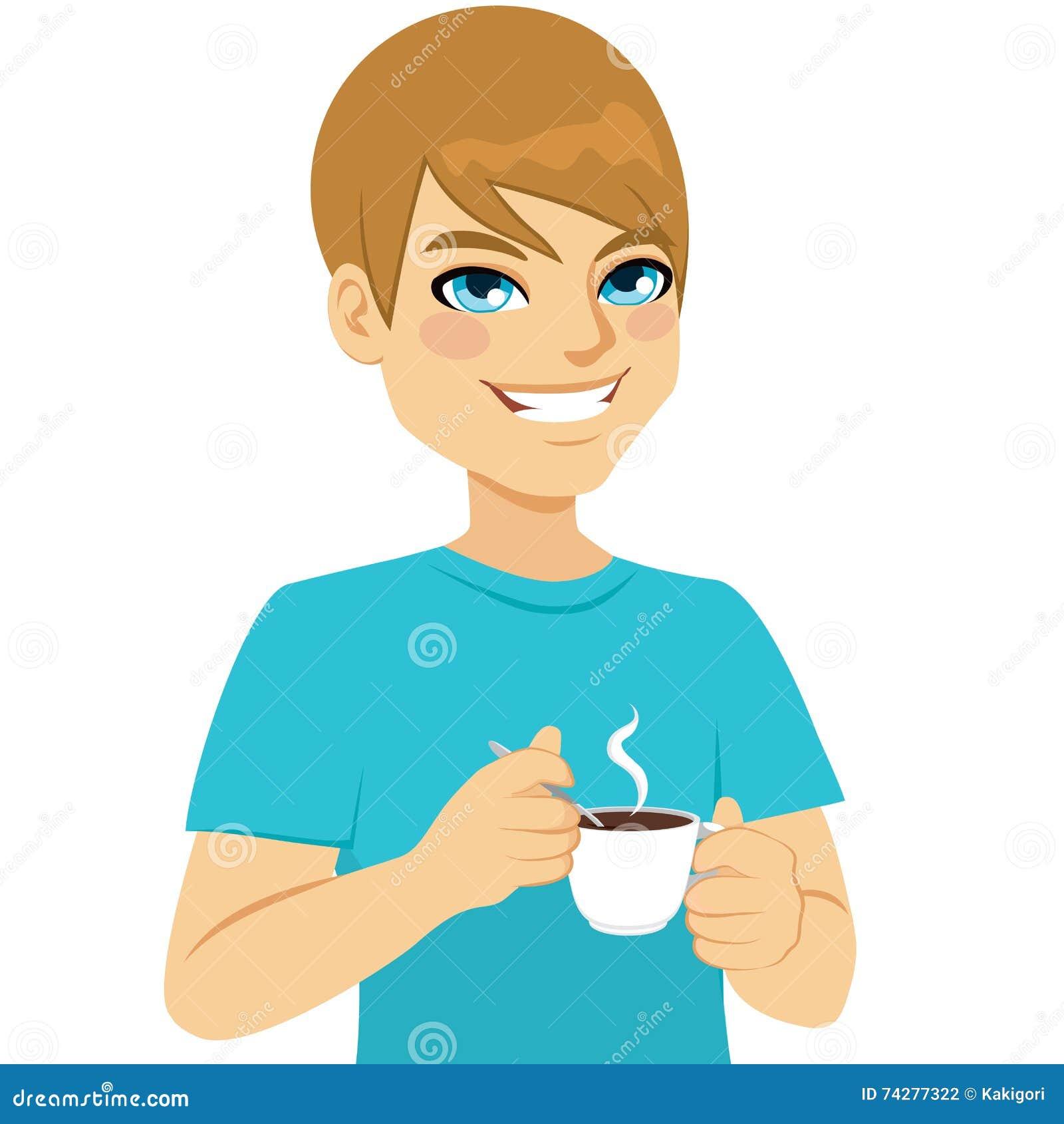 Man som tar kaffe