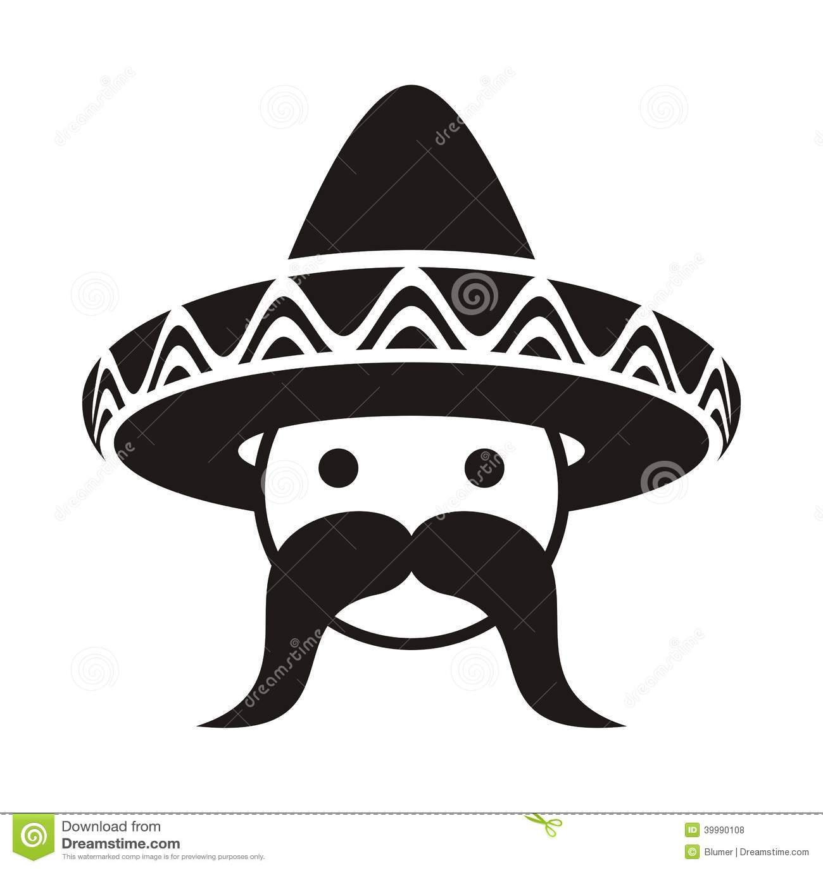 Man With Sombrero Stock Vector - Image: 39990108