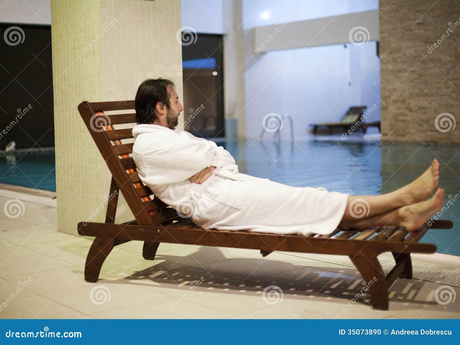 Man At The Spa Center Stock Photo Image 35073890