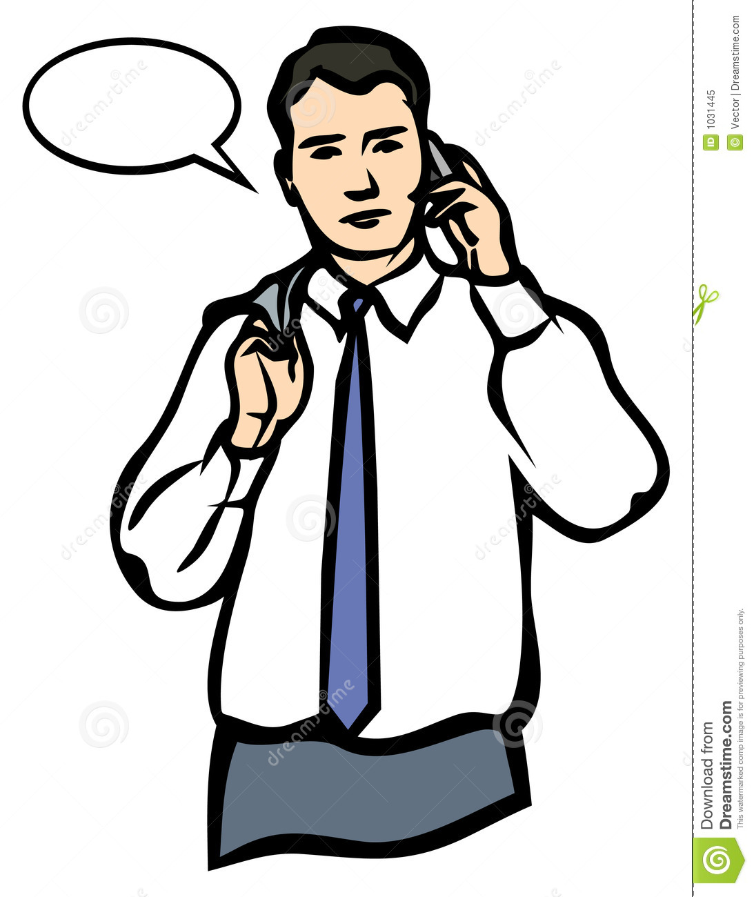 a man speaking on a mobile phone jpg and eps stock vector rh dreamstime com business person on phone clipart Person On Phone Icon