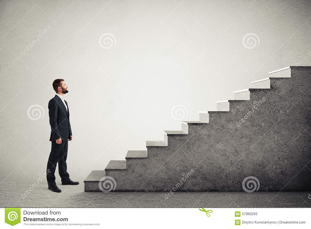 Man Standing Near Concrete Stairs Stock Photo - Image ...