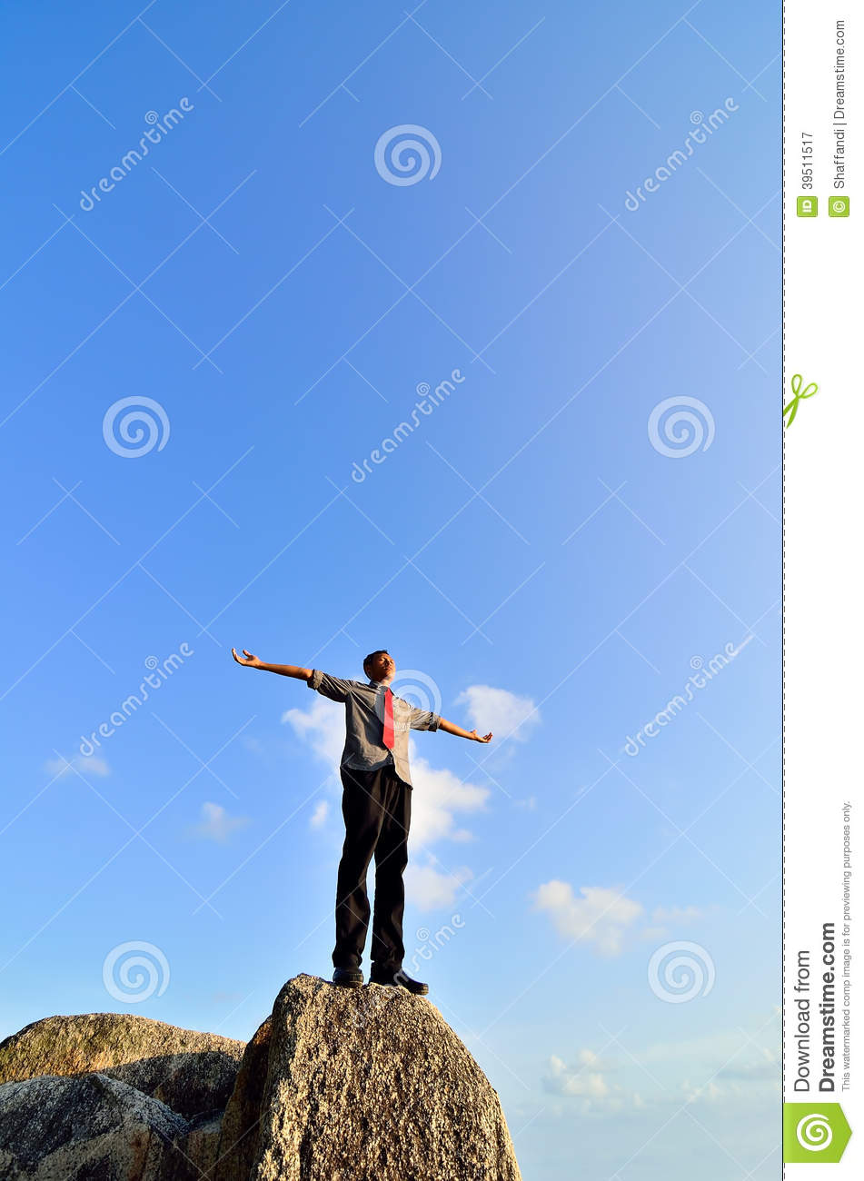 Man standing on the rock