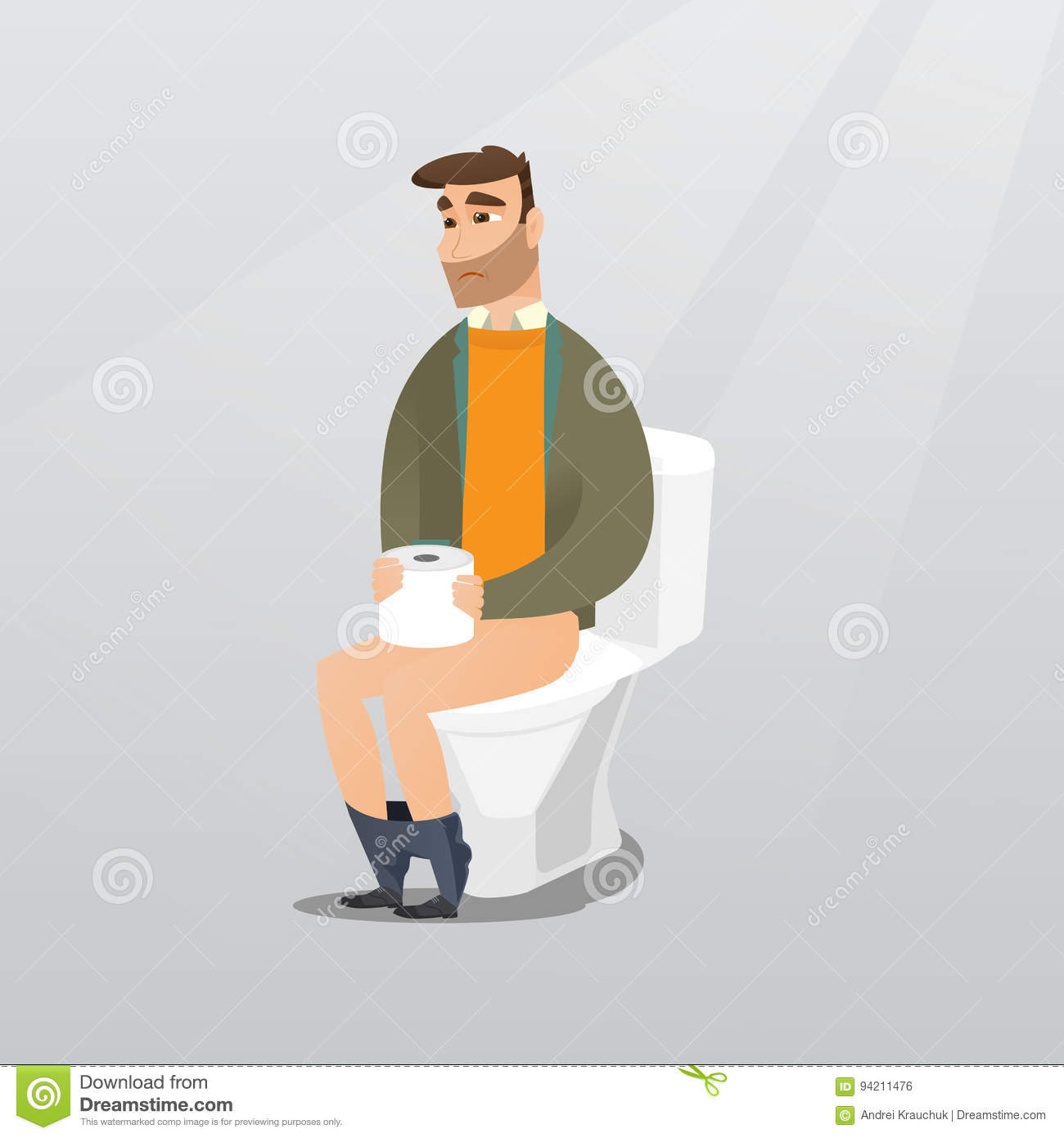 Constipated Cartoons Illustrations Vector Stock Images