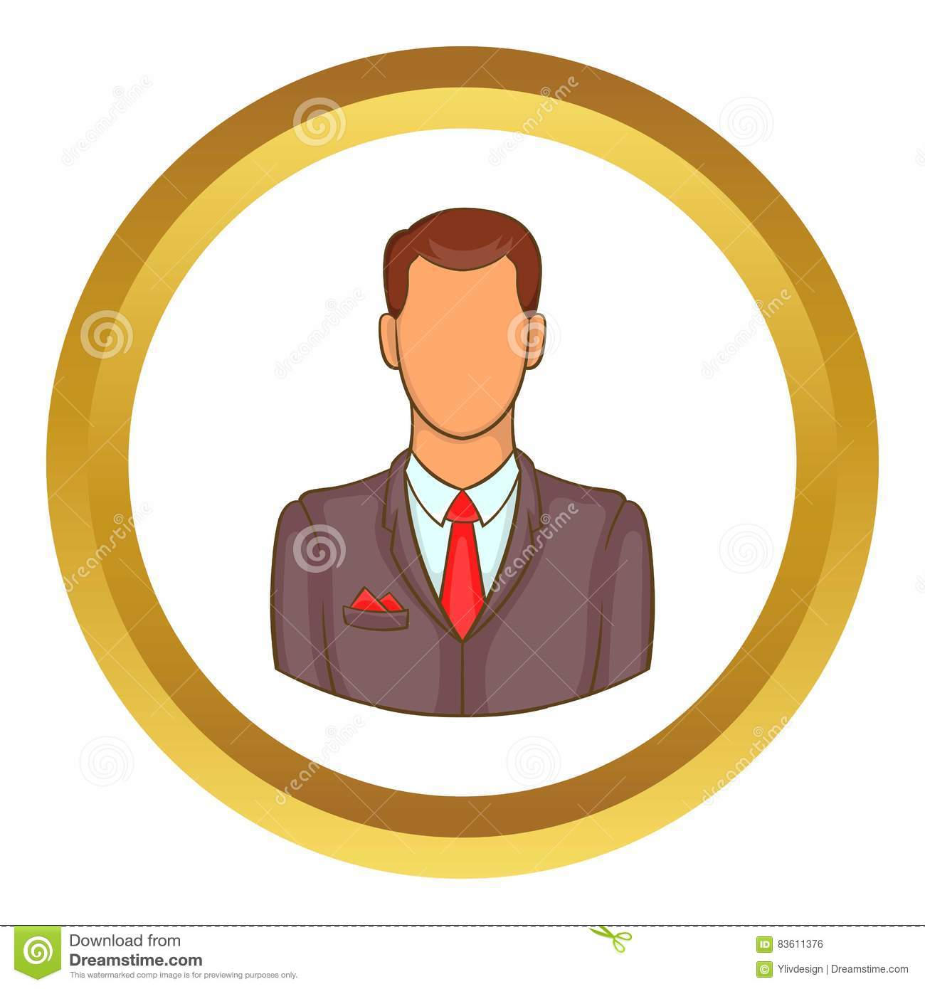 Man In Suit Avatar Vector Icon Stock Vector , Illustration