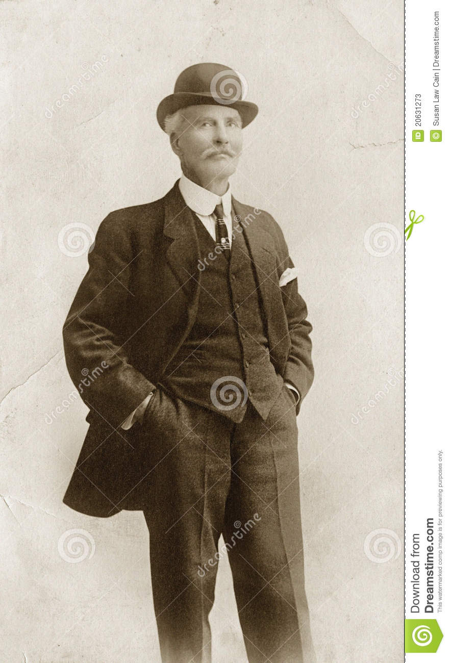 Man In Suit Amp Bowler Hat Stock Image Image Of Male
