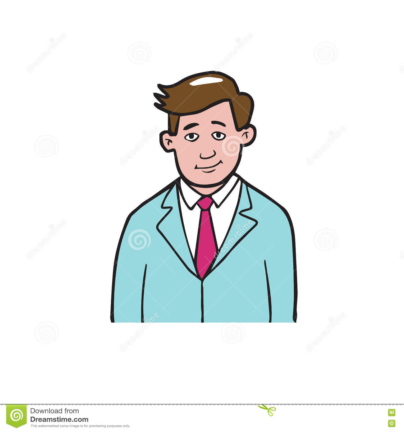 Man In Suit Cartoon Drawing 1 Stock Vector , Illustration of