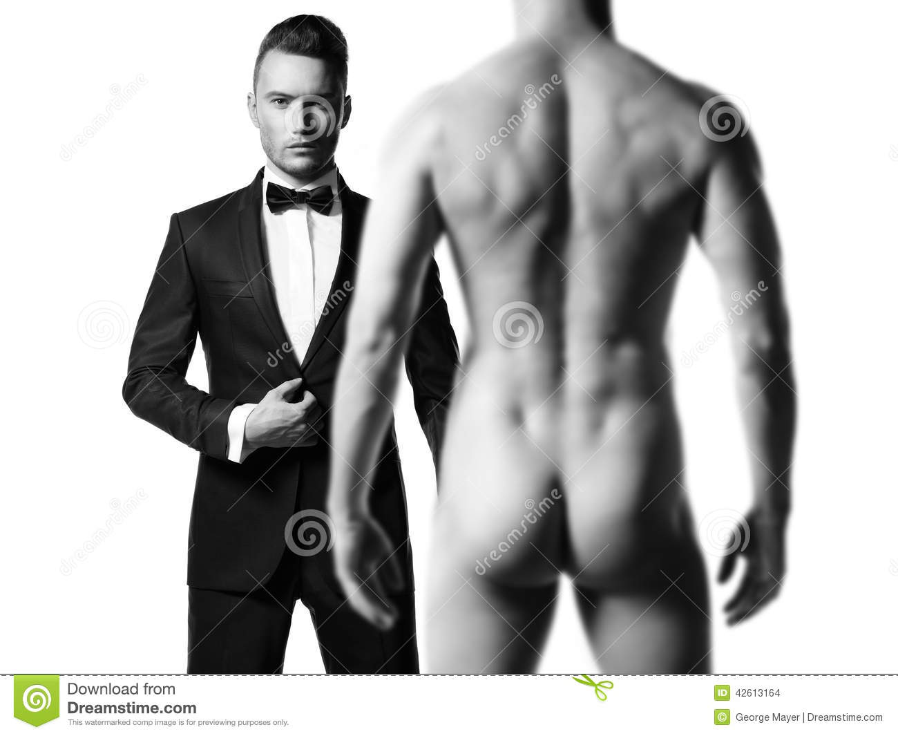 Nude male advertising