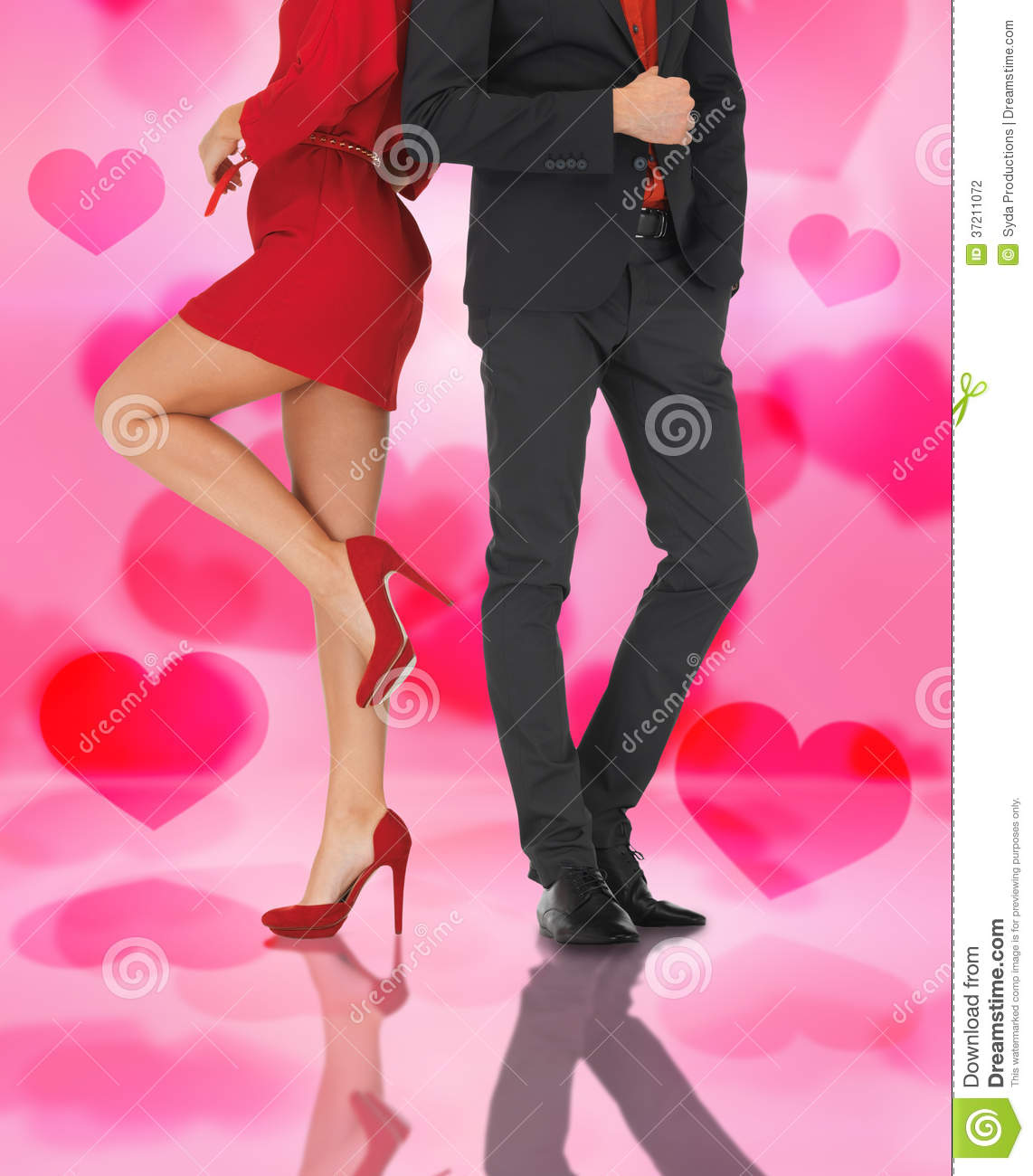 Man In Suit And Woman In Red Dress Stock Photography Image 37211072
