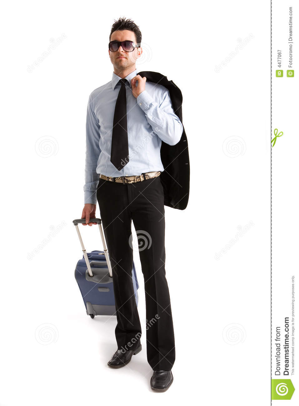 Man With Suitcase Royalty Free Stock Photography - Image: 4477067