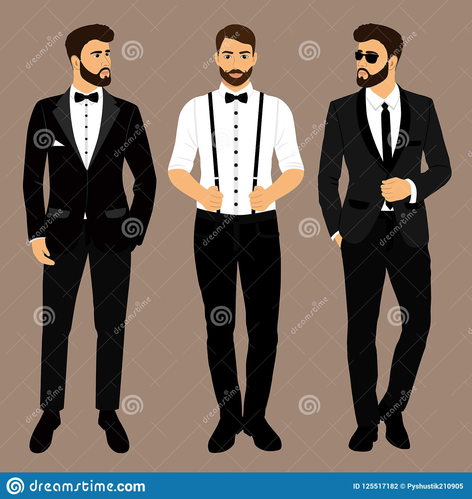 A Man With Suspenders The Groom Clothing Wedding Men S Suit