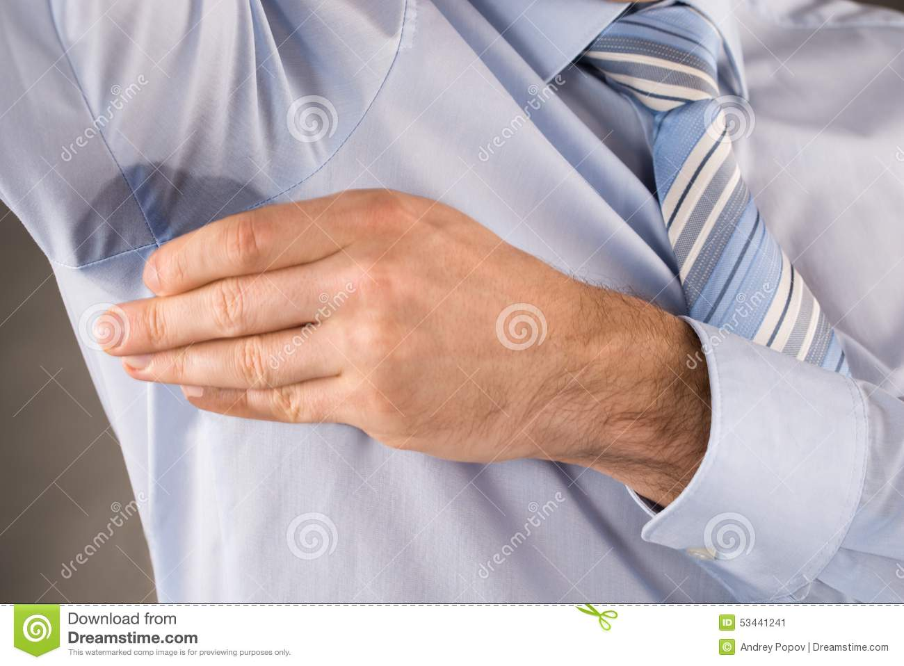 man sweating very badly under armpit stock image image of people