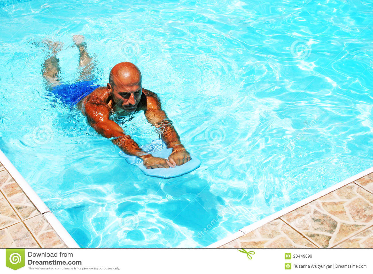 Man in swimming pool stock image image of plastic summer for Pool man show
