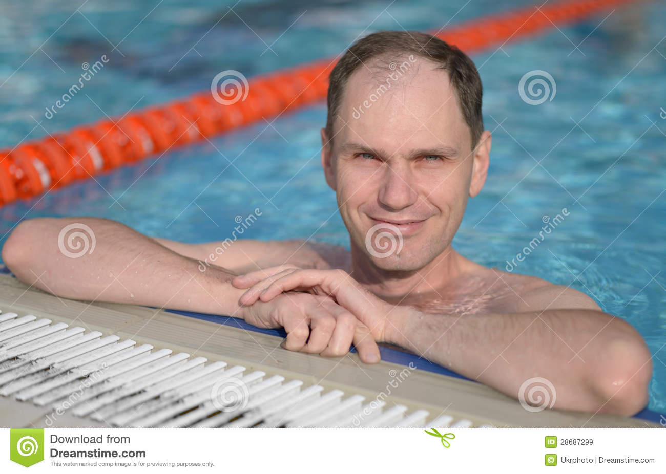 Man in a swimming pool royalty free stock images image for Pool man show