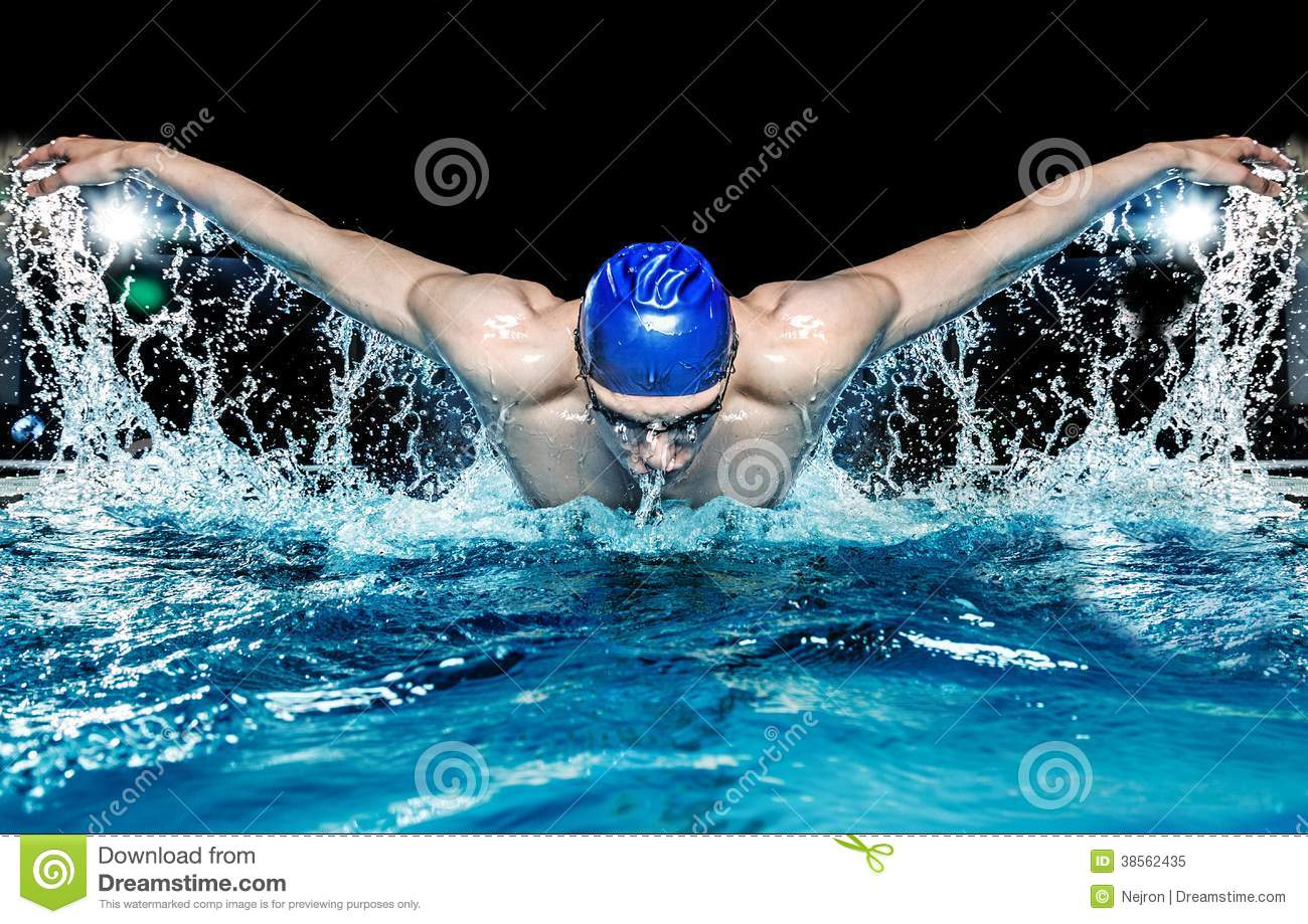 Download Man in swimming pool stock image. Image of health, leisure - 38562435