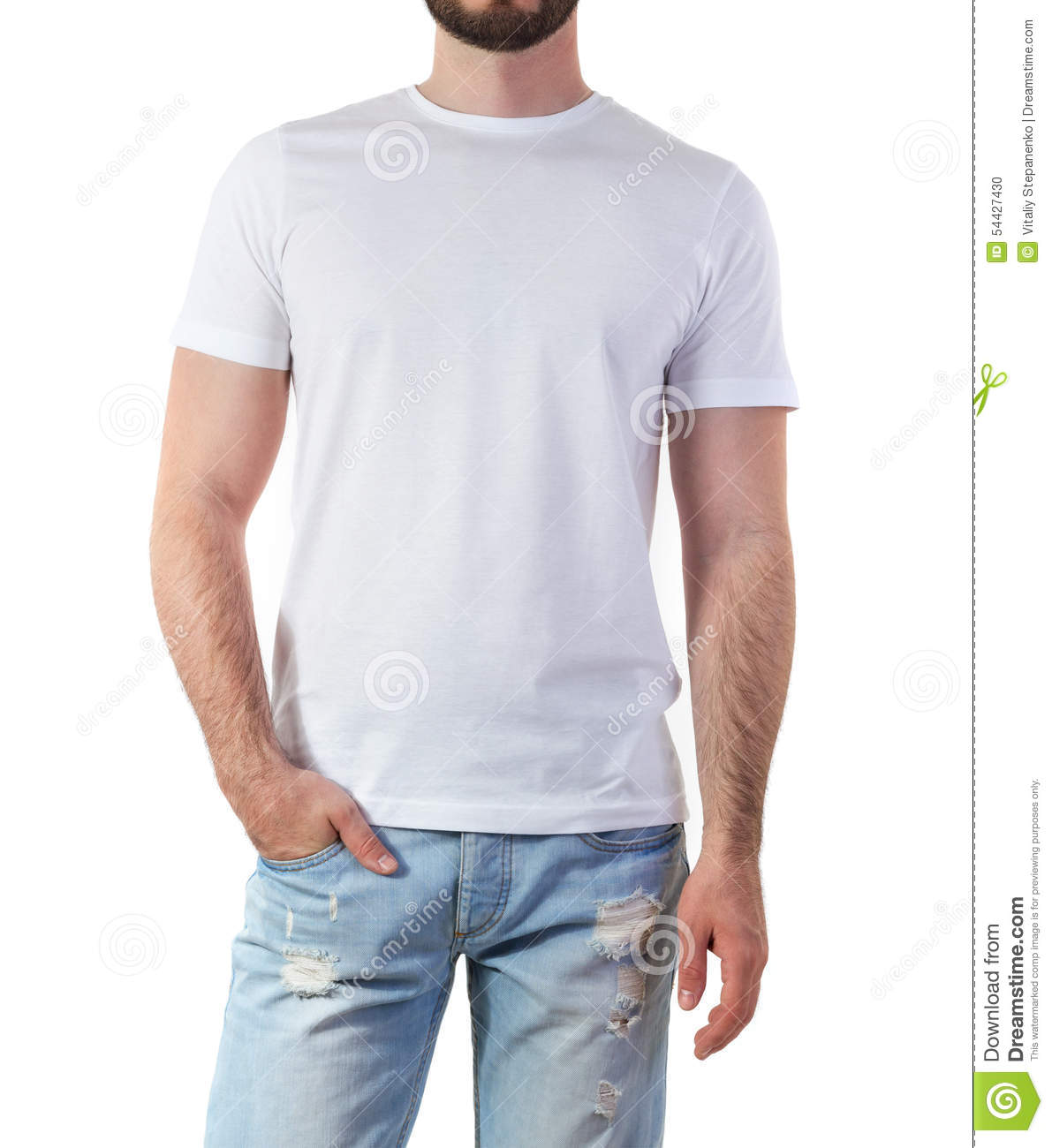 Man in t shirt mock up stock photo image of print blank for White t shirt mockup