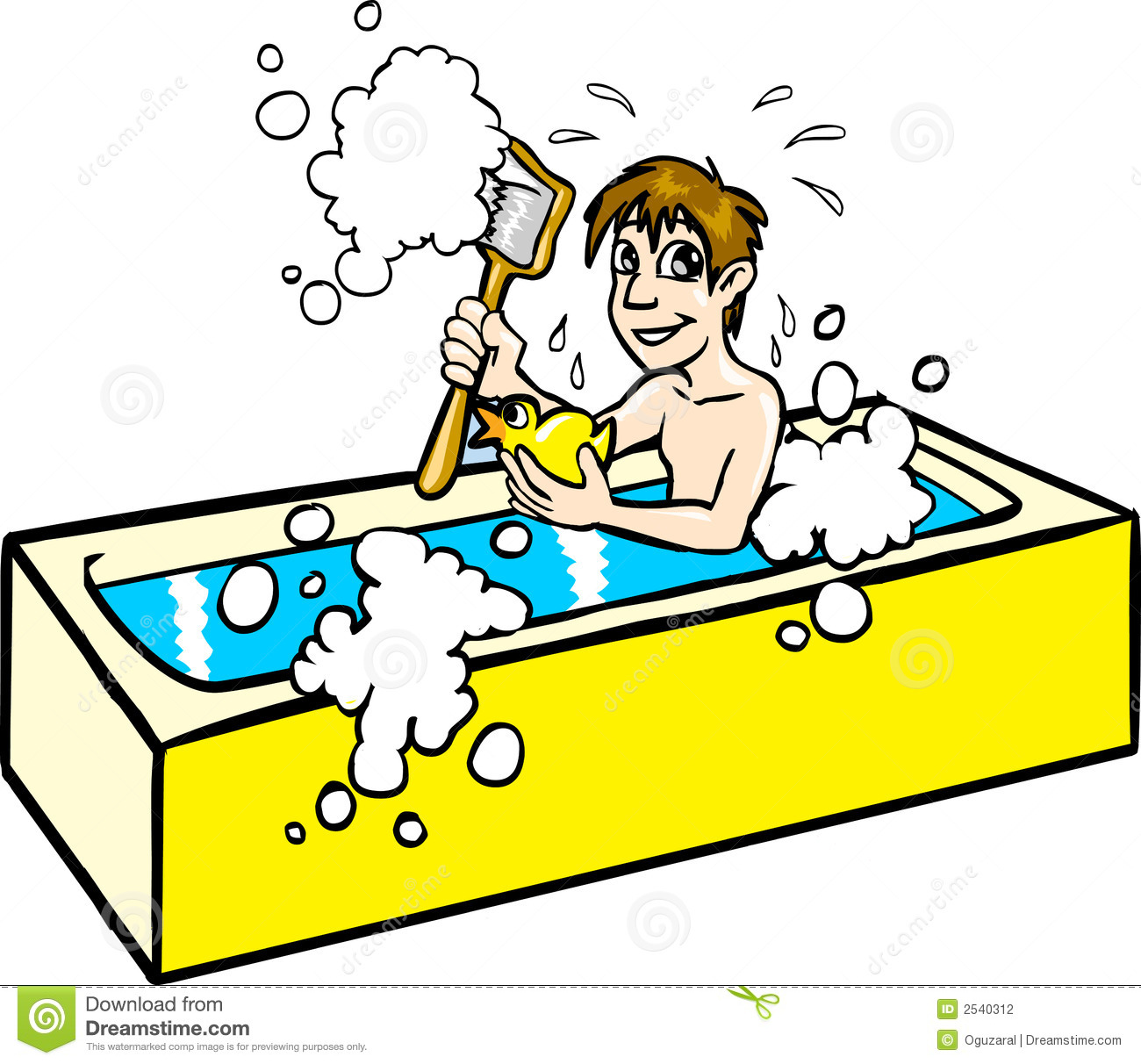 man taking a bath stock photography image 2540312 Girl Eating Breakfast Clip Art Wake Up Cartoon