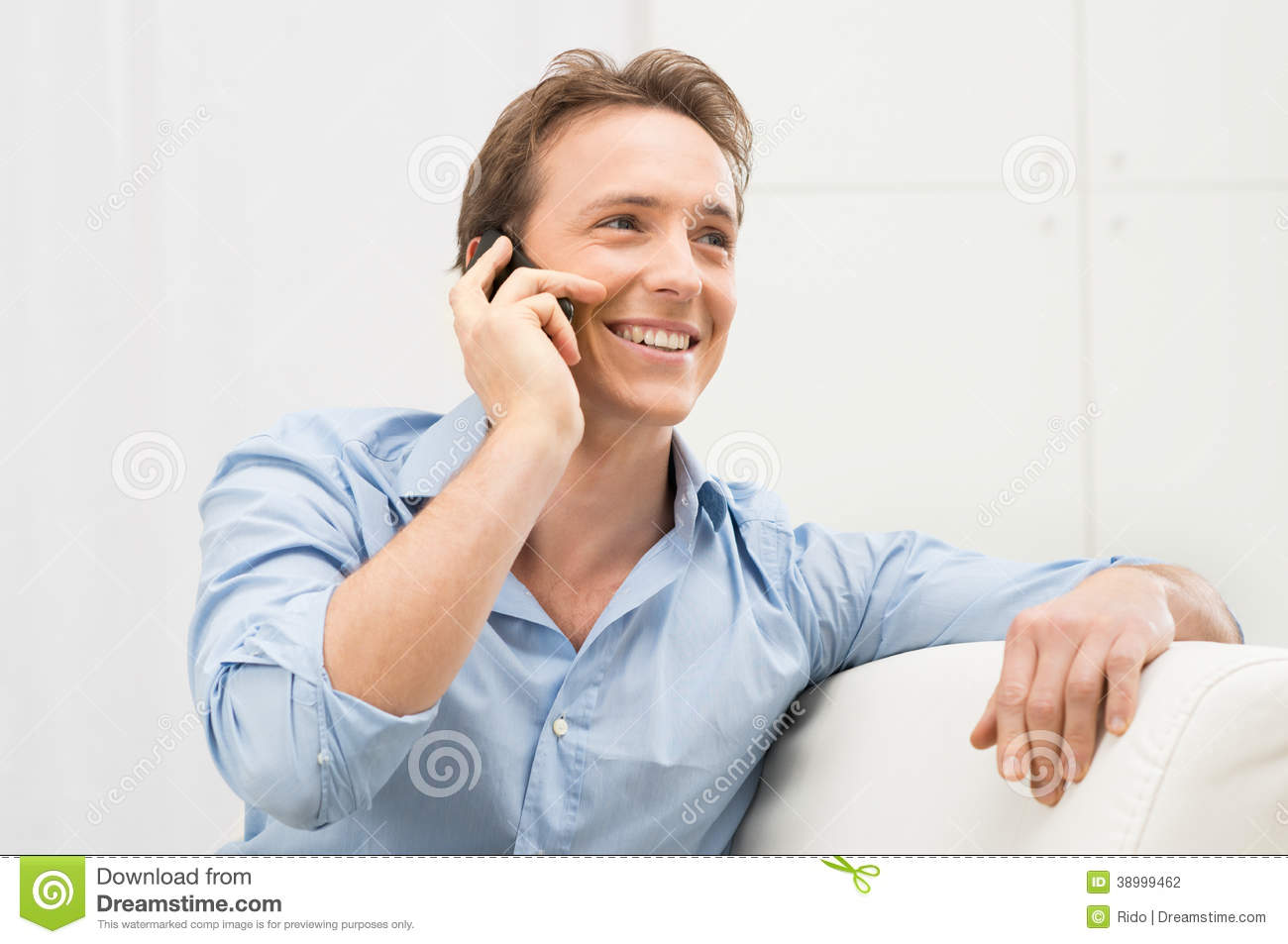 Man Talking On Cell Phone Stock Photo - Image: 38999462