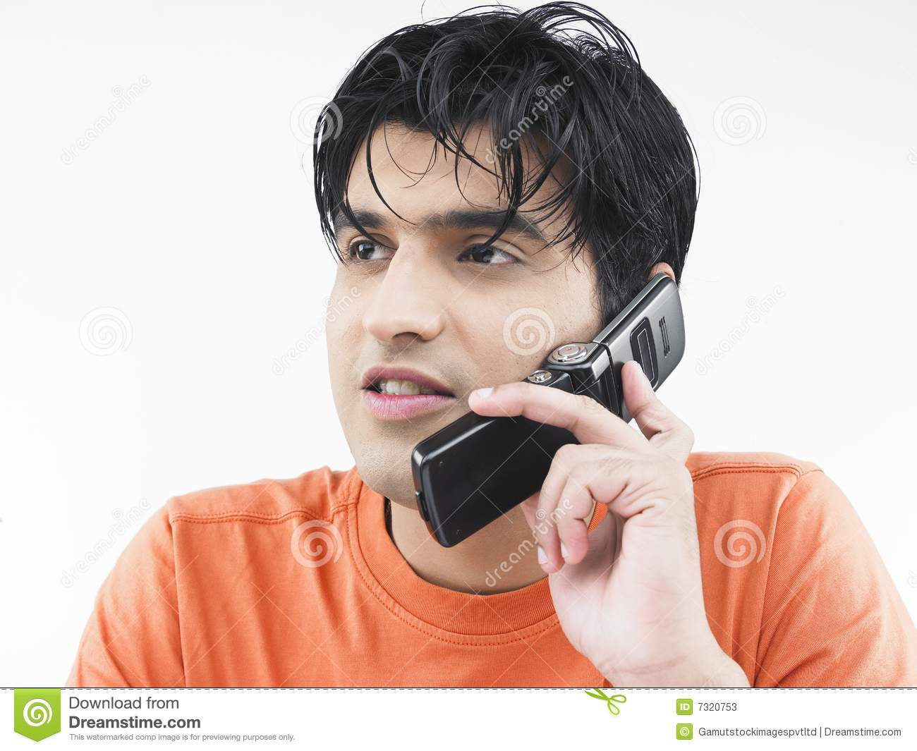 Man Talking On His Cell Phone Stock Image - Image: 7320753