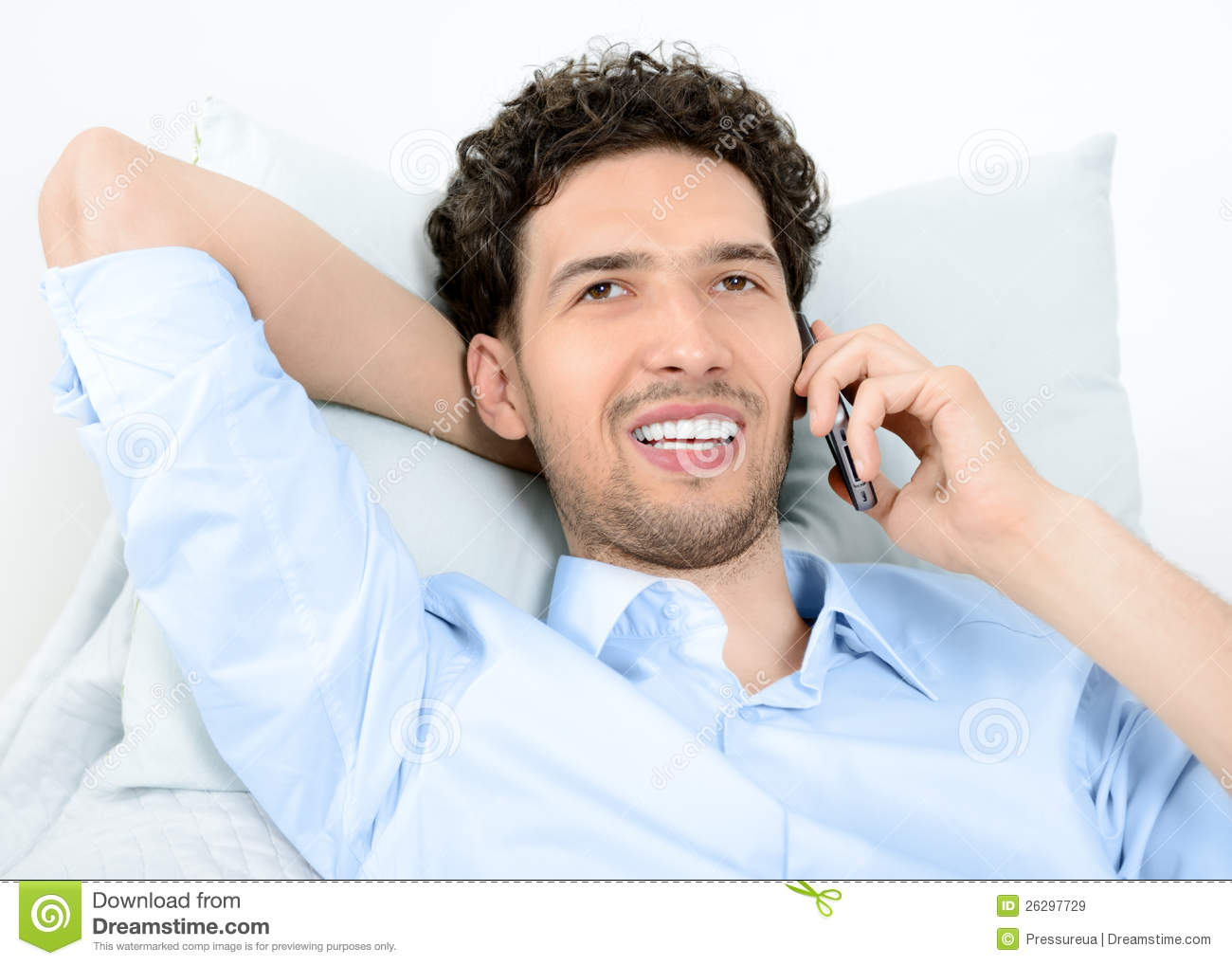 Man On Cell Phone : Man talking on mobile phone royalty free stock images
